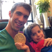 Michael Phelps shared his gold medal with his niece. 