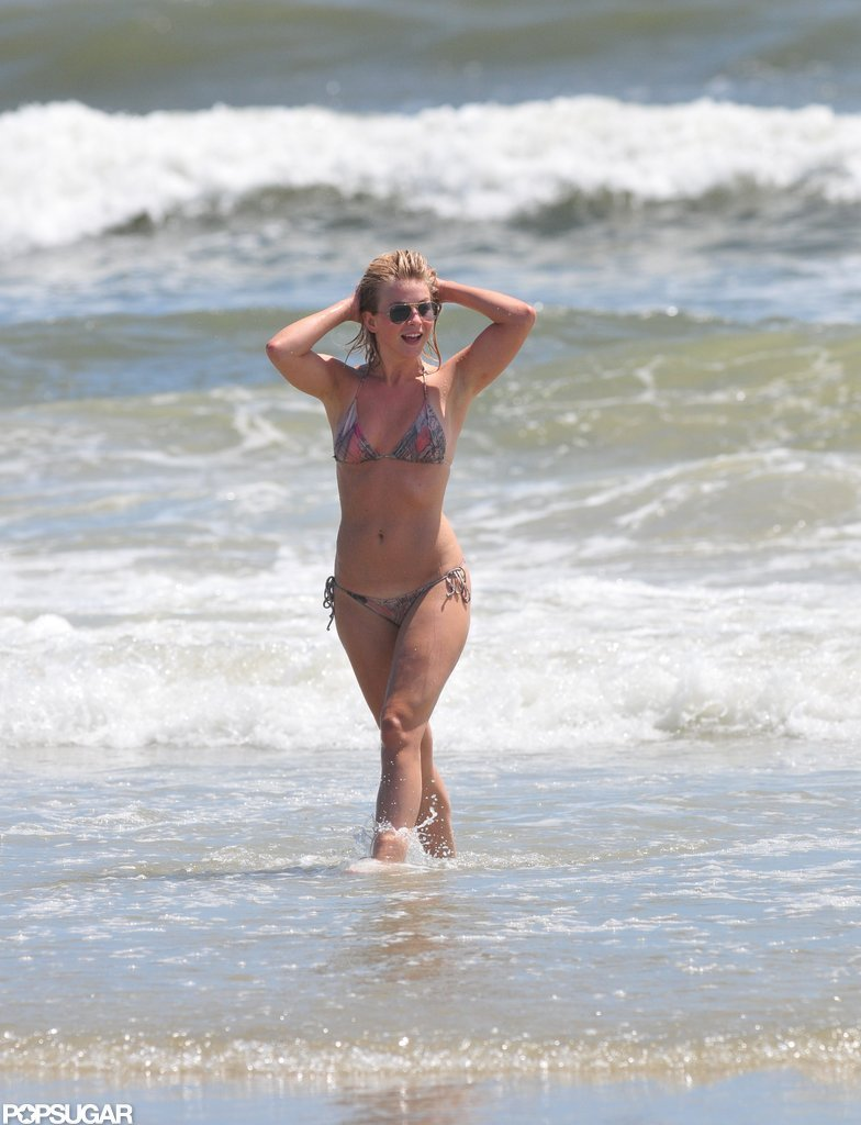 Julianne Hough wore a small bikini in NC.