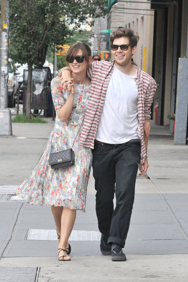 Keira Knightley and fiancé James Righton laughed together on the streets of NYC.