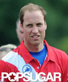 Prince William wore red and white for the polo match.