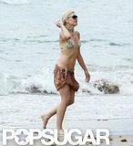 Gwen Stefani wore a tiger print bikini.