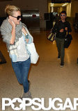 Kate Hudson and Matt Bellamy at the airport.