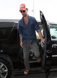 Matthew McConaughey got out of his car at LAX.