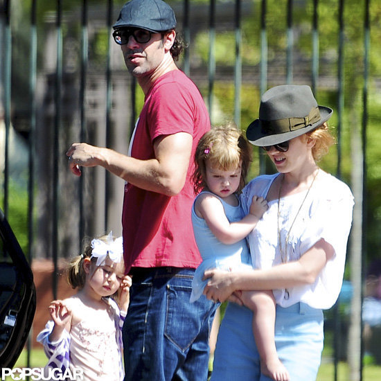 Sacha Baron Cohen and Isla Fisher spent time with their daughters, Olive and Elula.