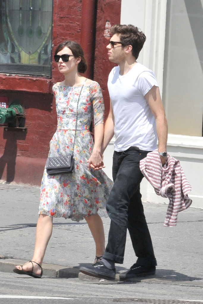 Keira Knightley and fiancé James Righton were hand in hand for a stroll in NYC.