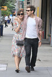 Keira Knightley and fiancé James Righton walked around NYC together.