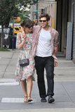 Keira Knightley and fiancé James Righton had their arms around each other in NYC.
