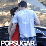 Zooey Deschanel and Jamie Linden showed PDA.