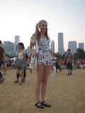 Her printed romper complemented the assortment of texturised prints, as seen on her satchel and her embroidered flats.
