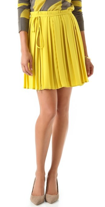 Autumn is one of my favorite times of year because of all the gorgeous colors. This sweet pleated skirt by Diane von Furstenburg ($385) seems to take inspiration from the brilliant yellow of maple leaves in Fall. What a great way to lend a sartorial nod to nature.  — Robert Khederian, editorial intern