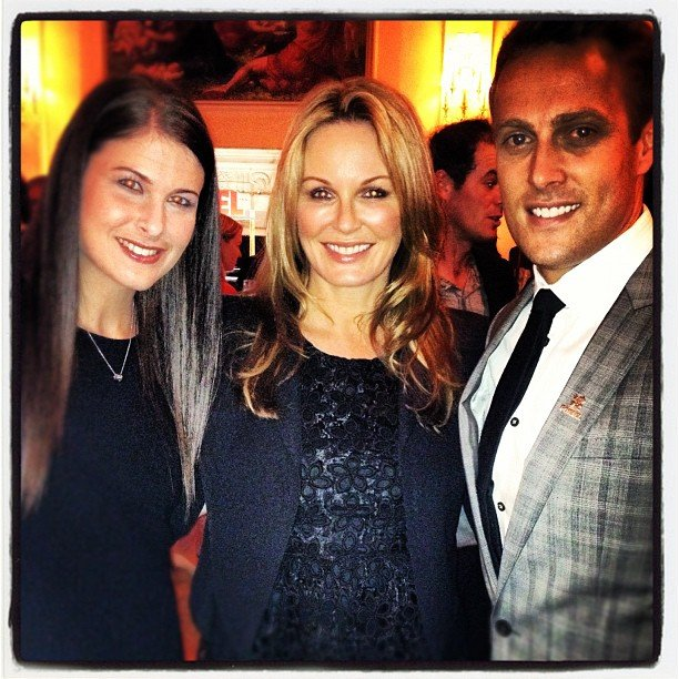 Charlotte Dawson caught up with Jessica and Matt Shirvington in London. Source: Instagram user mscharlotted