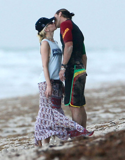 Gwen Stefani and Gavin Rossdale went in for a kiss in Palm Beach, FL, in August 2012.