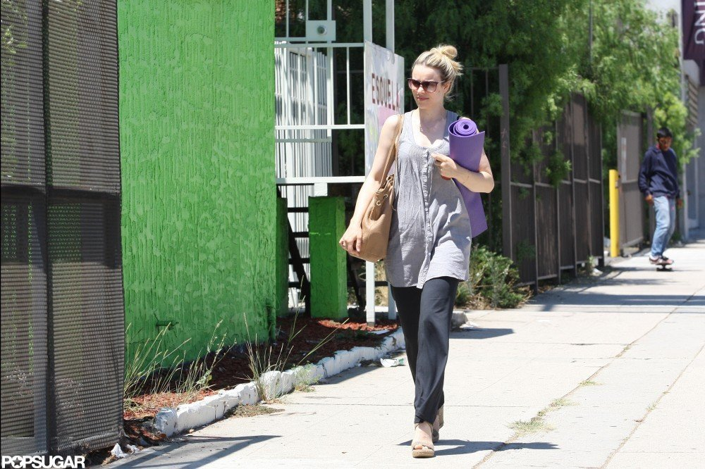 Rachel McAdams was spotted in LA on her way to yoga.