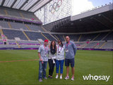 Hope Solo posed with friends on the field.  Source: Hope Solo on WhoSay