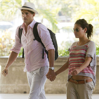 Mila Kunis Ashton Kutcher on Bali Vacation Pictures