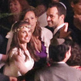 Natalie Portman wore a flower wreath on her head during her wedding with Benjamin Millepied.