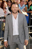 Joel Edgerton looked handsome in a gray suit.