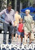 Michelle Williams and Jason Segel laughed with Matilda in LA.
