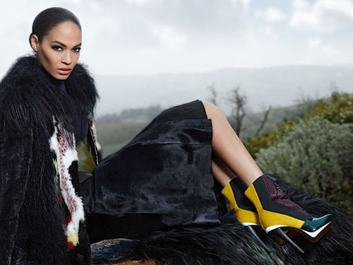 Joan Smalls stuns in the Karl Lagerfeld-shot Fendi ads.