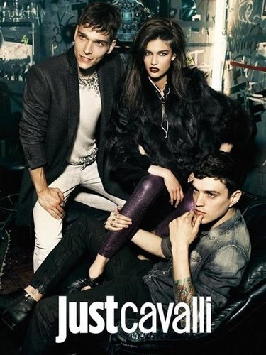 Just Cavalli proves dark sultry wares are just the thing for a fun night out.