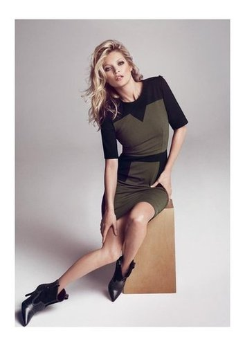 A perfect dress for the work place and happy hour, courtesy of Mango's Fall 2012 campaign.