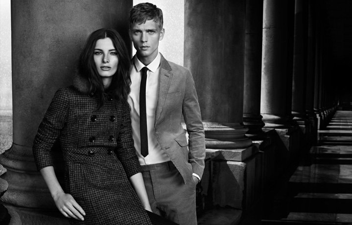 The classic essence of a tailored and crisp British heritage shines through in the Fall '12 Burberry Black Label ads.