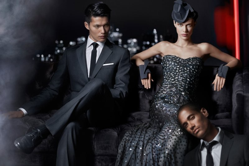 This Donna Karan Fall '12 ad evokes an Old Hollywood meets Rat Pack vibe.