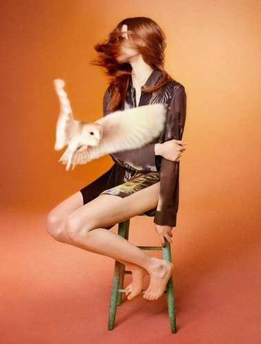 A cool action shot courtesy of this Edun's Fall 2012 ad.