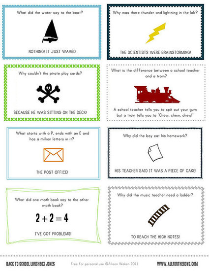 Printable School Lunch Jokes (free)