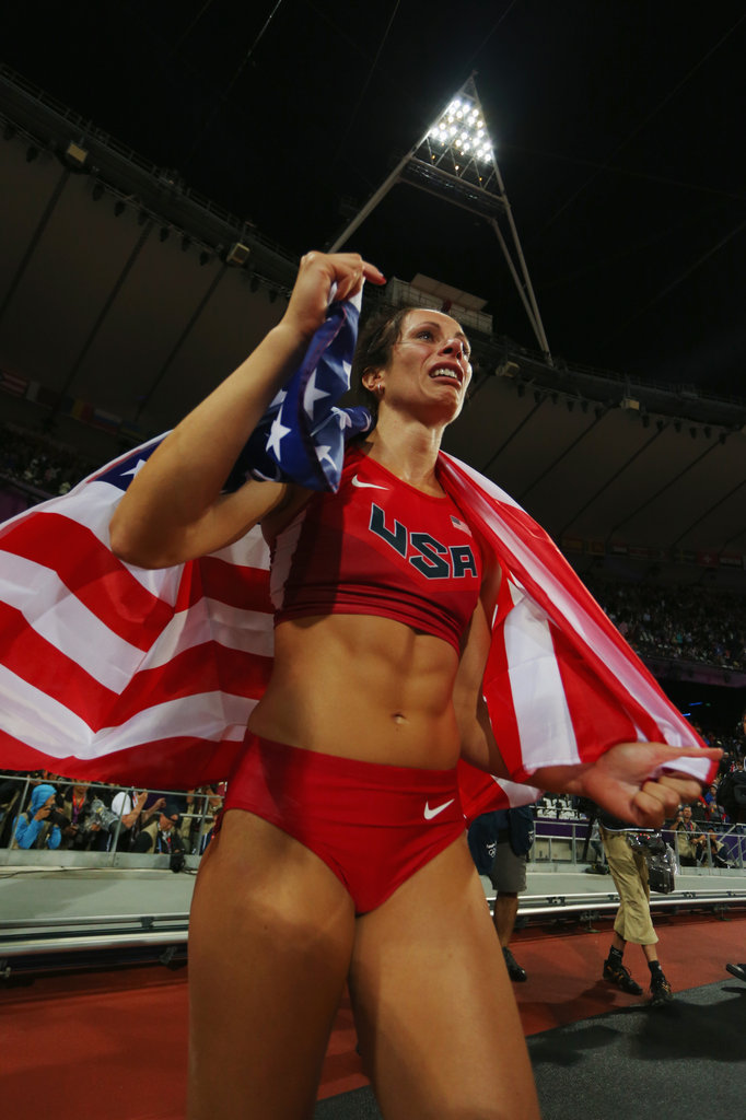 Jennifer Suhr vaulted her way to victory, and beat out Russian favorite and two-time gold medalist Elena Isinbaeva to win. The gluten-free athlete holds the American record in the pole vault.