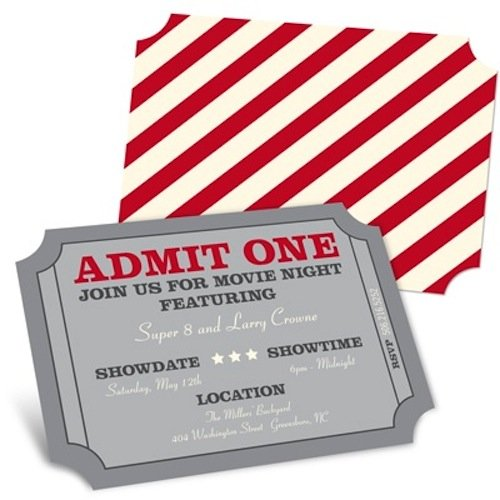 by alerting guests with these movie night invitations 14 for eight