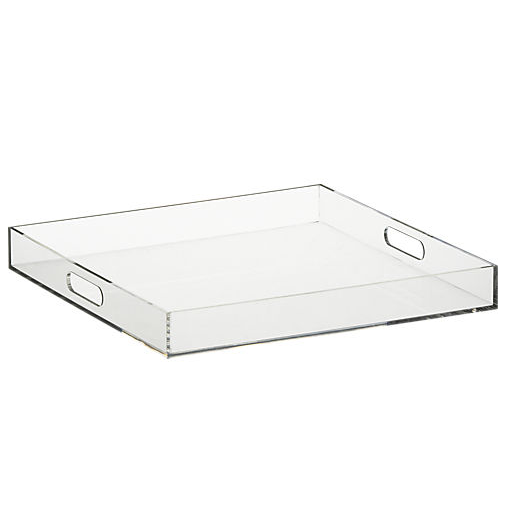 Avoid dragging out side tables by placing a few of these Format Trays ($40 each) by guests to rest their drinks on.