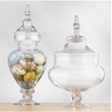 Channel your inner Martha Stewart by displaying sweet and savory popcorn variations in pretty glass vessels, like these Apothecary Vases ($25 each).