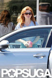 Isla Fisher had breakfast with husband Sacha Baron Cohen.