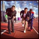 Ryan Seacrest put up a good fight on the track.Source: Instagram user ryanseacrest