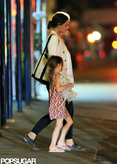 Katie Holmes and Suri Have a Late-Night Dinner Date