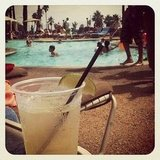 Audrina Patridge sipped on a Moscow mule poolside.  Source: Instagram user audrinapatridge