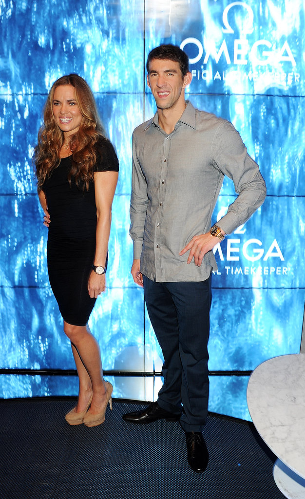 Michael Phelps linked up with Natalie Coughlin at a party in London.