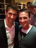 Michael Phelps and Ryan Lochte posed together at an Olympic event. Source: Twitter user eswright