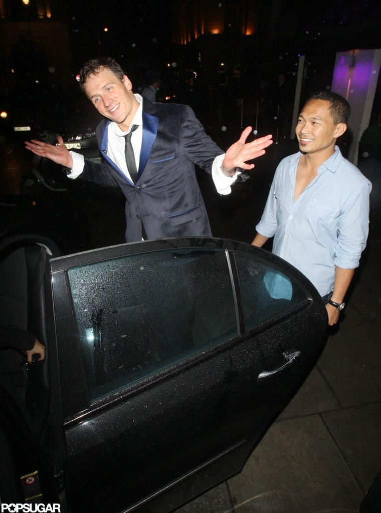 Ryan Lochte went with friends to Mahiki.