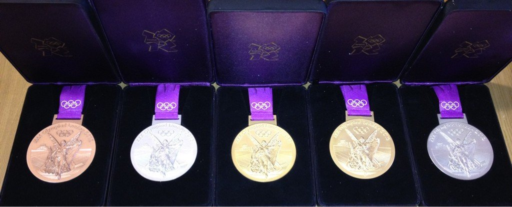 Ryan Lochte's Olympic medals were on display.  Source: Twitter user eswright