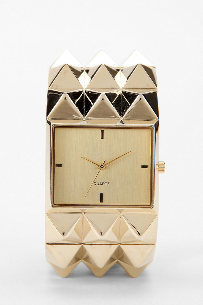 Watches should be functional and fashionable. That's why I love this Pyramid Studded Watch ($38) from Urban Outfitters. The neutral colors and studded texture adds instant edginess to any outfit. Plus, it doubles as a bracelet!  -– Colleen Doyle, editorial intern