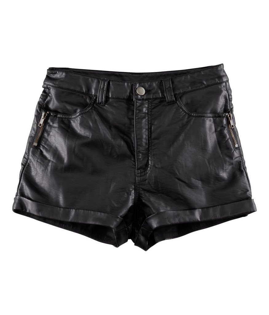 I think black leather shorts are cool, sexy, and chic. These H&M shorts ($25), can be styled for daywear (graphic tee, ankle boots and a crossbody bag) and nightwear (blazer, pumps, and a clutch.) Seasonal shorts, especially one as edgy as these, are definitely a must have.   -– Colleen Doyle, editorial intern