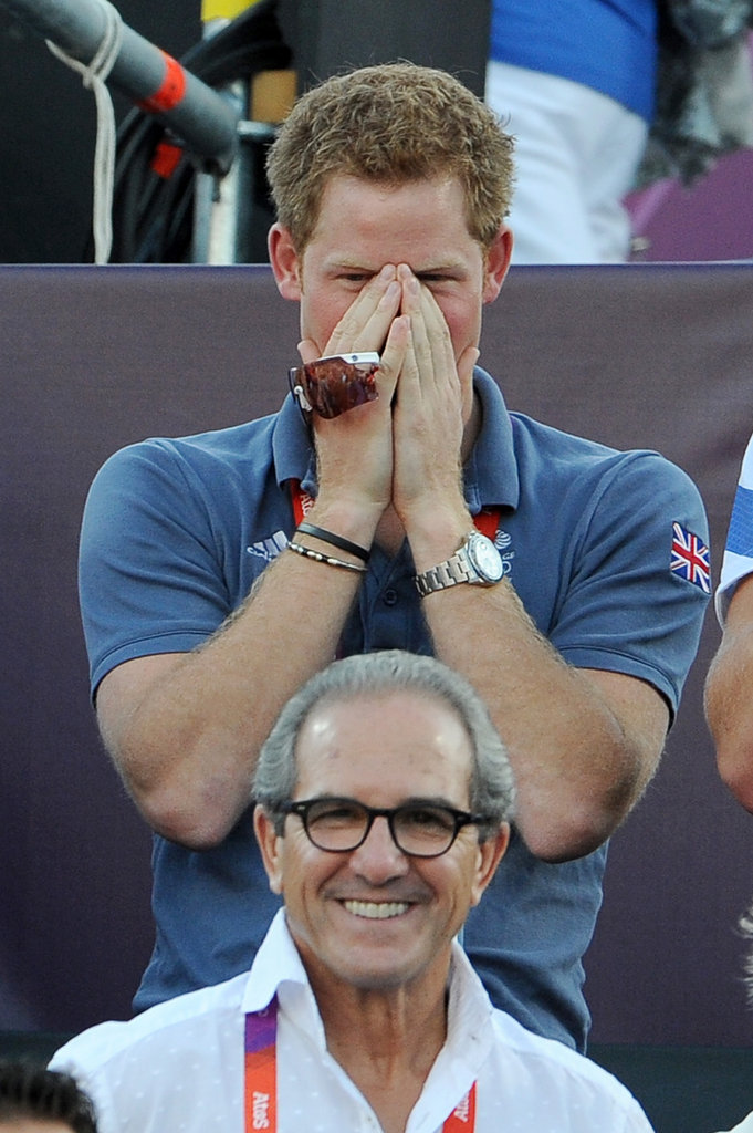 Prince Harry watched the suspenseful match.