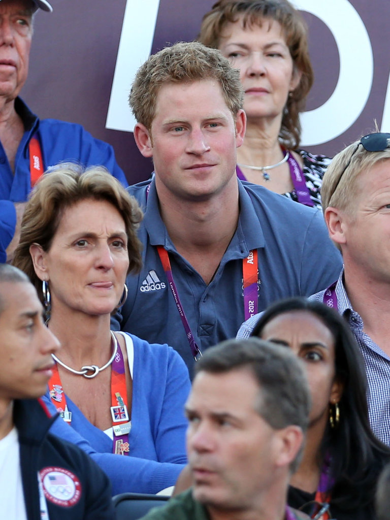 Prince Harry came out on day 12 to watch some women's volleyball.
