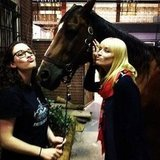Beth Behrs was back on set with her 2 Broke Girls costars Kat Dennings and Chestnut. Source: Instagram user bethbehrsreal