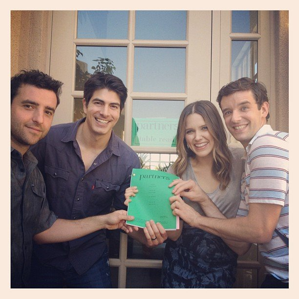 The cast of Partners posed at their very first table read. Source: Instagram user cbsphoto