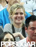 Kirsten Dunst watched the game with enthusiasm.