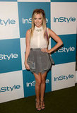Ashley Tisdale posed on the carpet at InStyle's Summer party in LA.