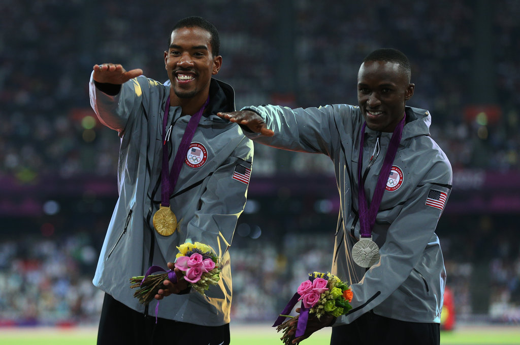 World champion Christian Taylor soared past his competitors with this year's biggest jump of 17.81 meters. His teammate Will Claye managed to jump 17.62 meters to end his Olympic run with a silver.